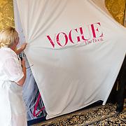 NLD/Amsterdam201606230 - Vogue The Book - Exclusive Pre-Launch, hoofdredactrice Karin Swerink en model Lara Stone