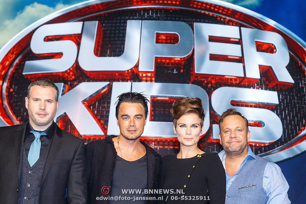NLD/Hilversum/20150420 - Persviewing Superkids, Tijl Beckand, Dinand Woesthoff, Angela Schijf en Carlo Boszhard