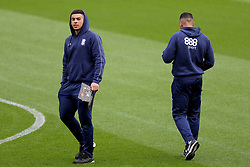 Birmingham City's Che Adams (left) before the game.