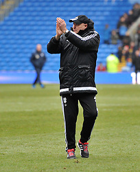 Cardiff City Manager Russell Slade - Mandatory by-line: Paul Knight/JMP - Mobile: 07966 386802 - 27/02/2016 -  FOOTBALL - Cardiff City Stadium - Cardiff, Wales -  Cardiff City v Preston North End - Sky Bet Championship