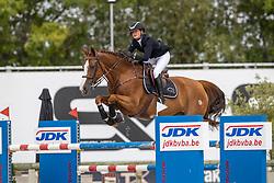 Adam Constance, BEL, Decibelle du Seigneur<br /> Belgisch Kampioenschap Jeugd Azelhof - Lier 2020<br /> © Hippo Foto - Dirk Caremans<br /> 02/08/2020