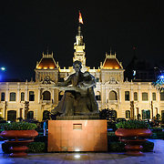 Ho Chi Minh City Hall was built in the early 20th Century by the French colonial government as Saigon's city hall. It's also known as Ho Chi Minh City People's Committee Head office, in French as Hôtel de Ville de Saigon, and in Vietnamese as Tr? s? ?y ban Nhân dân Thành ph? H? Chí Minh.