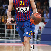 FC Barcelona Regal's Chuck EIDSON during their Euroleague group D matchday 5 Galatasaray between  FC Barcelona Regal at the Abdi Ipekci Arena in Istanbul at Turkey on Thursday, November 17 2011. Photo by TURKPIX