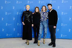 Tilda Swinton, Joanna Hogg, Honor Swinton-Byrne and Tom Burke attending The Souvenir Photocall as part of the 69th Berlin International Film Festival (Berlinale) in Berlin, Germany on February 12, 2019. Photo by Aurore Marechal/ABACAPRESS.COM