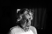 MARINA DI BIBBONA, ITALY - 3 MARCH 2013: Beppe Grillo, founder and leader of the Five Stars Movement, is interviewed in him home in Marina di Bibbona, Italy, on March 2013.<br /> <br /> The comedian, Beppe Grillo, the leader of the Five Star Movement, rejected an appeal by Pier Luigi Bersani, the leader of Italy's center-left Democratic Party, to work with others to govern the country. Mr. Grillo's Five Star Movement won 25 percent of the vote, becoming the third-largest bloc in Parliament.<br /> <br /> Gianni Cipriano for The New York Times