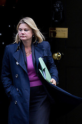 © Licensed to London News Pictures. 16/10/2012. LONDON, UK. Justine Greening, the International Development Secretary is seen leaving number 10 Downing Street after today's meeting of David Cameron's cabinet in London today (16/10/12). Photo credit: Matt Cetti-Roberts/LNP