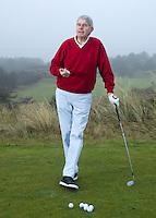 NOORDWIJK - DRIVER Golf- instructie  met Tom O'Mahoney voor GolfJournaal. FOTO KOEN SUYK