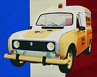 The 1970 Renault R4 -F4 served numerous purposes in the last century; most Renault R4's were built for passengers but the F4 version is a small handy van that could be found not only on French roads but in just about every European country. Here the Renault R4 is pictured as an assistance van.<br />