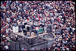 The Grateful Dead Live at Giants Stadium 02 September 1978. Sound Booth. Dan Healy can be seen in this shot.