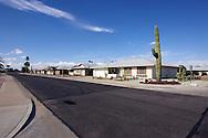UNITED STATES-SUN CITY- Sun City, a retirement community in Arizona. Empty streets. PHOTO: GERRIT DE HEUS .VERENIGDE STATEN-SUN CITY-  Sun City. Lege straten.  PHOTO GERRIT DE HEUS