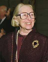 The COUNTESS OF BATHURST at a reception in London on 1st March 1999.MOW 7