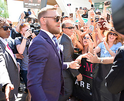 August 22, 2017 - Las Vegas, Nevada, United States of America - UFC fighter Conor McGregor attends the Arrival Day ceremony at Toshiba Plaza on  August 22, 2017  for  his  upcoming fight with Floyd Mayweather jr in Las Vegas, Nevada (Credit Image: © Marcel Thomas via ZUMA Wire)