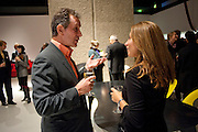 MICHAEL DAVIS; CLEO NICOLAIDOU-WRIGHT, Ron Arad; Restless. Cocktail reception hosted by Kate Bush of the Barbican and Tony Chambers of Wallpaper magazine. Barbican art Gallery. London. 17 September 2010