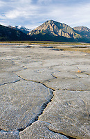 Glacial mud flats at the mouth of the Slims River, Kluane National Park Yukon Canada