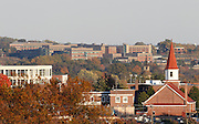 A view of downtown Charlottesville from above.  Photo/Andrew Shurtleff