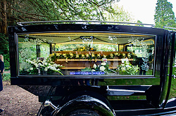 © Licensed to London News Pictures. 03/10/2019. High Wycombe, UK. A hearse arrives at St Lawrence's Church in High Wycombe for the funeral of Libby Squire. Libby Squire was a 21-year-old Hull University student and originally from High Wycombe she disappeared after a night out in Hull on February 1st, 2019. After extensive searches her body was found close to Spurn Point on March 20th, 2019. Photo credit: Peter Manning/LNP