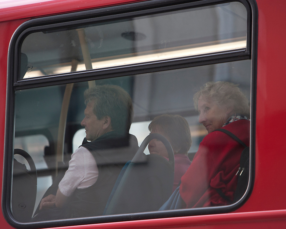 Passagers on a bus