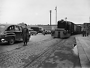 20/08/1958<br /> 08/20/1958<br /> 20 August 1958<br /> Transport at Guinness Brewery, St James's Gate, Dublin. Hudswell train locomotive.