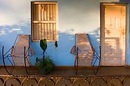 Porch in Vinales, Pinar del Rio, Cuba.
