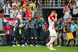 July 15, 2018 - Moscow, Russia - 180715 Lucas Hernandez of France celebrates with team mates after 1-0 during the FIFA World Cup final match between France and Croatia on July 15, 2018 in Moscow..Photo: Petter Arvidson / BILDBYRÃ…N / kod PA / 92087 (Credit Image: © Petter Arvidson/Bildbyran via ZUMA Press)