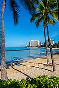 Waikiki Beach, Waikiki, Honolulu, Oahu, Hawaii