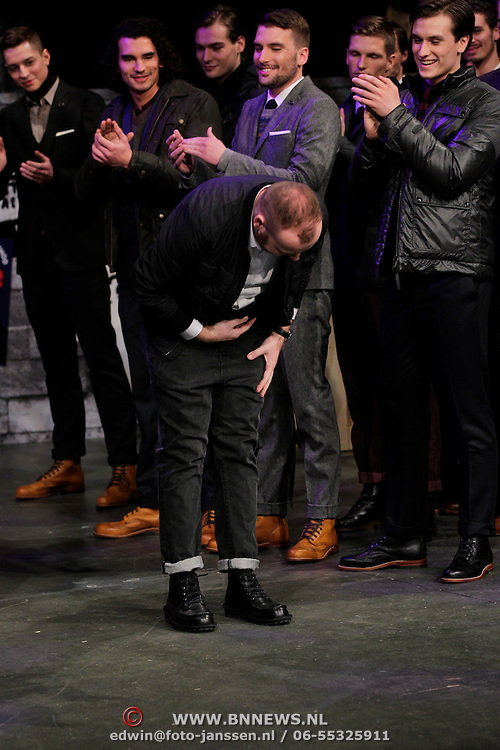 NLD/Amsterdam/20120124 - Modeshow Cold Method 5 jaar, oprichter en eigenaar Dieter de Cock