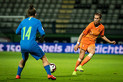 Špela Kolbl of Slovenia and Merel van Dongen of Nederland  during football match between Slovenia and Nederland in qualifying Round of Woman's qualifying for EURO 2021, on October 5, 2019 in Mestni stadion Fazanerija, Murska Sobota, Slovenia. Photo by Blaž Weindorfer / Sportida