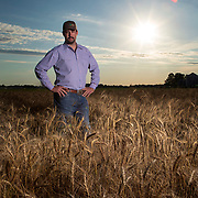 Landon Manwell on his farm in Jones, Oklahoma. Manwell farms and lives on the land great-great-grandparents purchased in 1905. The State of Oklahoma recognized the land as part of the Oklahoma Centennial Farm & Ranch Program. Nathan Lambrecht/Journal Communications