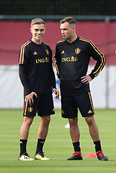 September 4, 2018 - Tubize, Belgique - Leandro Trossard forward of Belgium and Birger Verstraete midfielder of Belgium (Credit Image: © Panoramic via ZUMA Press)