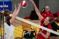 Anne Swart of VCN in action during the first league match between Laudame Financials VCN vs. Apollo 8 on February 06, 2021 in Capelle aan de IJssel.