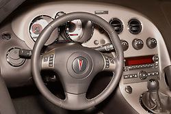 08 February 2007: 2007 Pontiac Solstice interior instrument cluster. The Chicago Auto Show is a charity event of the Chicago Automobile Trade Association (CATA) and is held annually at McCormick Place in Chicago Illinois.
