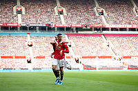Football - 2020 / 2021 Premier League - Manchester United vs Burnley - Old Trafford<br /> <br /> Mason Greenwood of Manchester United celebrates his second goal at Old Trafford<br /> <br /> Credit COLORSPORT/LYNNE CAMERON