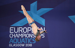Great Britain's James Heatly during the Mixed Team Diving Final during day five of the 2018 European Championships at the Royal Commonwealth Pool, Edinburgh.