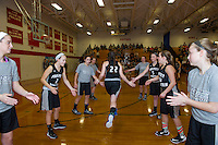 Laconia versus Prospect Mountain girls varsity basketball NHIAA Division III second round tournament action at Laconia High School.    Karen Bobotas for the Laconia Daily Sun