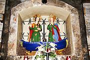 Saintes-Maries-de-la-Mer, Camargue, France The emblem of the two Marys