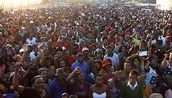 Monti-180723-Inkokheli yeqela le EFF uJulius Malema  indwendele ilokishi iDuncan Village eMonti, iqela le EFF lizakubhiyozela iminyaka emihlanu lasekwayo kwinkundla yezemidlalo eSisa Dukashe eMdantsane-Umfanekiso: BHEKI RADEBE