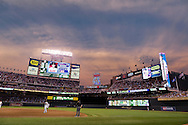 A general view of Target Field during a game against the Cleveland Indians on July 19, 2011 in Minneapolis, Minnesota.  The Twins defeated the Indians 2 to 1 after a Danny Valencia walk-off base hit in the bottom of the 9th inning.