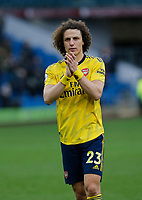 Football - 2019 / 2020 Premier League - Burnley vs. Arsenal<br /> <br /> David Luiz of Arsenal applauds the Arsenal travelling support at the final whistle, at Turf Moor.<br /> <br /> <br /> COLORSPORT/ALAN MARTIN