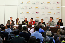 Poudret Alban (SUI), Mottu Sophie (SUI), Lüdi Rolf (SUI) coursebuilder, Ehning Markus (GER),  Beerbaum Ludger (GER) and HRH Princess Haya (JOR), Holmberg Sven (SWE)<br /> Rolex FEI World Cup Final - Geneve 2010<br /> © Dirk Caremans