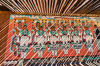 A mural at the Indian Pueblo Culture Center, Albuquerque, New Mexico USA