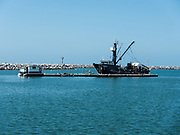 Dana Point Bait Barge In The Harbor