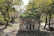 Israel, Lower Galilee, Kibbutz Alonim founded 1938. A fortified guard post