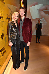 Poppy Delevingne and James Cook at the Range Rover Velar Global Reveal at The Design Museum, London England. 1 March 2017.