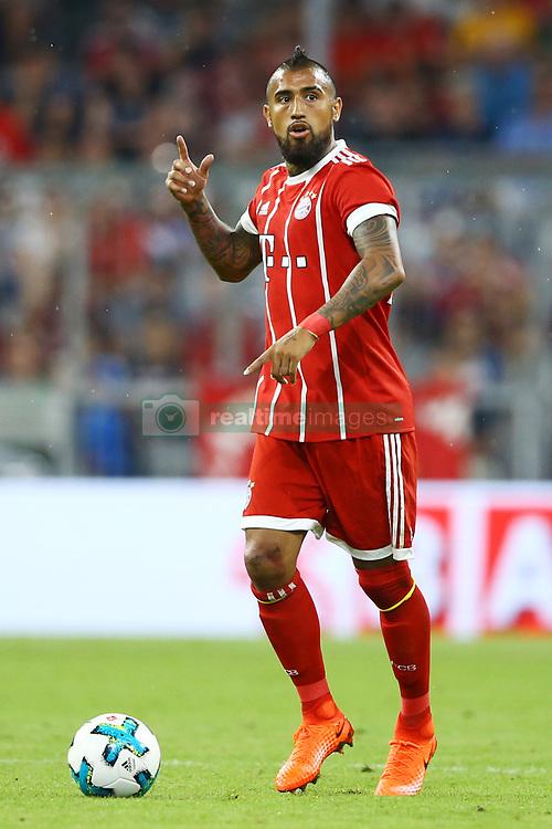 August 1, 2017 - Munich, Germany - Arturo Vidal of Bayern during the second Audi Cup football match between FC Bayern Munich and FC Liverpool in the stadium in Munich, southern Germany, on August 1, 2017. (Credit Image: © Matteo Ciambelli/NurPhoto via ZUMA Press)