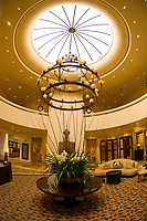 Interior view of the lobby of the Saxon Hotel, Johannesburg, South Africa
