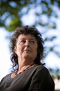 British poet laureate Carol Ann Duffy, pictured at the Edinburgh International Book Festival where she talked about her latest poetry. The three-week event is the world's biggest literary festival and is held during the annual Edinburgh Festival. The 2014 event featured talks and presentations by more than 500 authors from around the world and was the 31st edition of the festival.