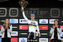 October 28, 2018 - Ruddervoorde, Belgium - ISERBYT Eli (BEL) of MARLUX - BINGOAL pictured during the podium ceremony (Credit Image: © Panoramic via ZUMA Press)