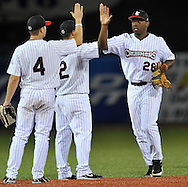 The Lake Erie Crushers defeated the Windy City Thunderbolts 12-1 in Frontier League action at All Pro Freight Stadium in Avon, Ohio, on July 16, 2010...Photo by David Richard / www.davidrichardphoto.com