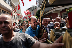 Relatives of Turkish soldier Nuri Sener who was killed in a helicopter crash in Sirnak, on 31 May 2017, mourn over his coffin during a funeral ceremony in Istanbul, Turkey, 01 June 2017. At least 13 soldiers were reported killed in the helicopter crash in Sirnak city. Istanbul, Turkey, on June 01, 2017. Photo by Can Erok/Dha/Depo Photos/ABACAPRESS.COM