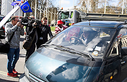 © Licensed to London News Pictures. 26/03/2019. London, UK. BORIS JOHNSON is seen driving in to the House of Parliament in Westminster, London. MPs have passed an amendment which gives Parliament a series of indicative votes on alternatives to Prime Minister Theresa May's Brexit deal. Photo credit: Ben Cawthra/LNP